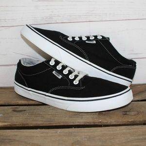 Vans Classic Low Black White Canvas Shoes